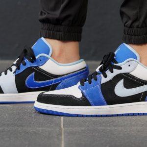 Jordan 1 Low Black Blue White