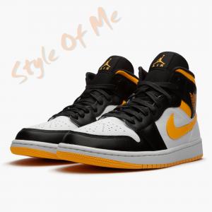 Giày Nike Air Jordan 1 Mid Laser Orange Black